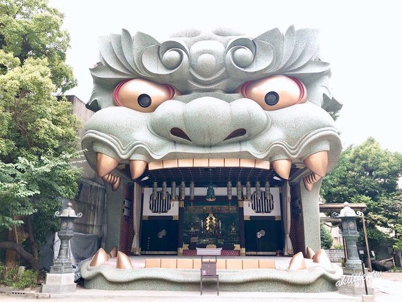 【京阪奈自由行●大阪】難波八阪神社◎超吸睛巨大獅子神殿.繪馬殿